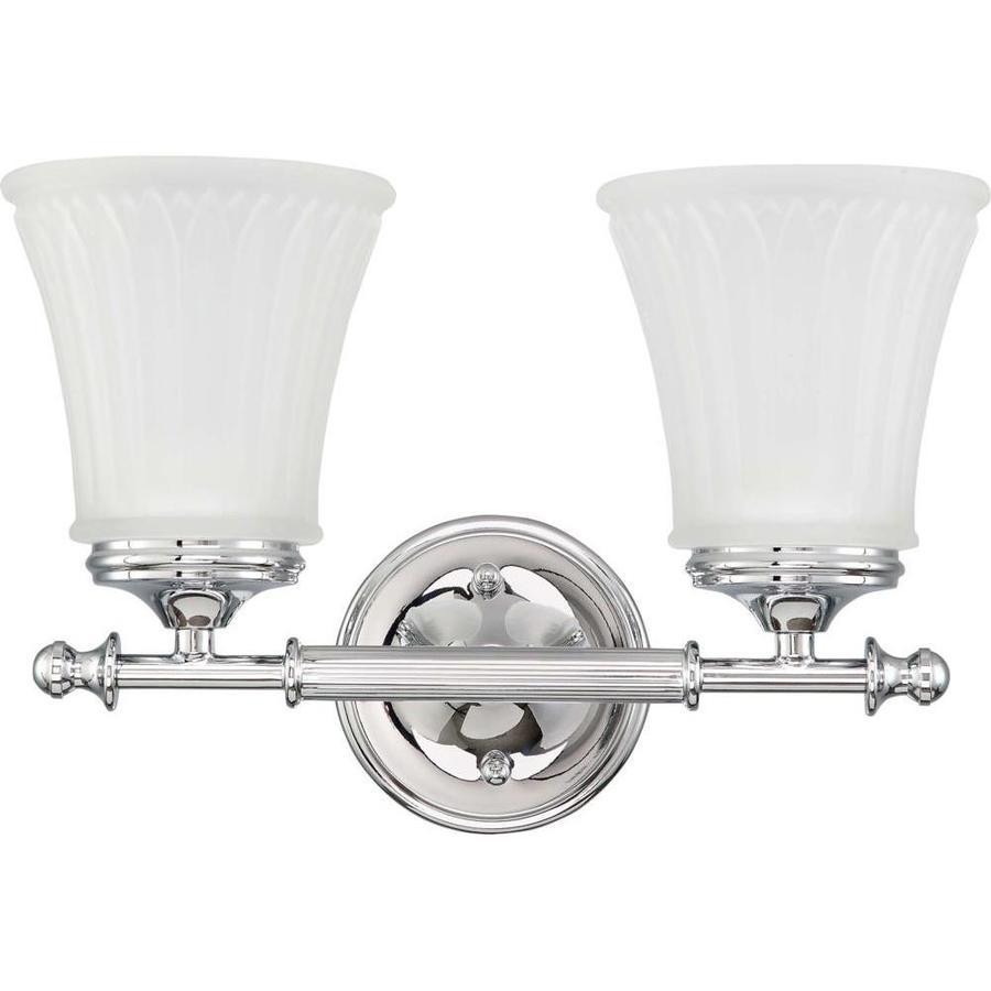 Teller 1-Light 9-in Polished Chrome Vanity Light