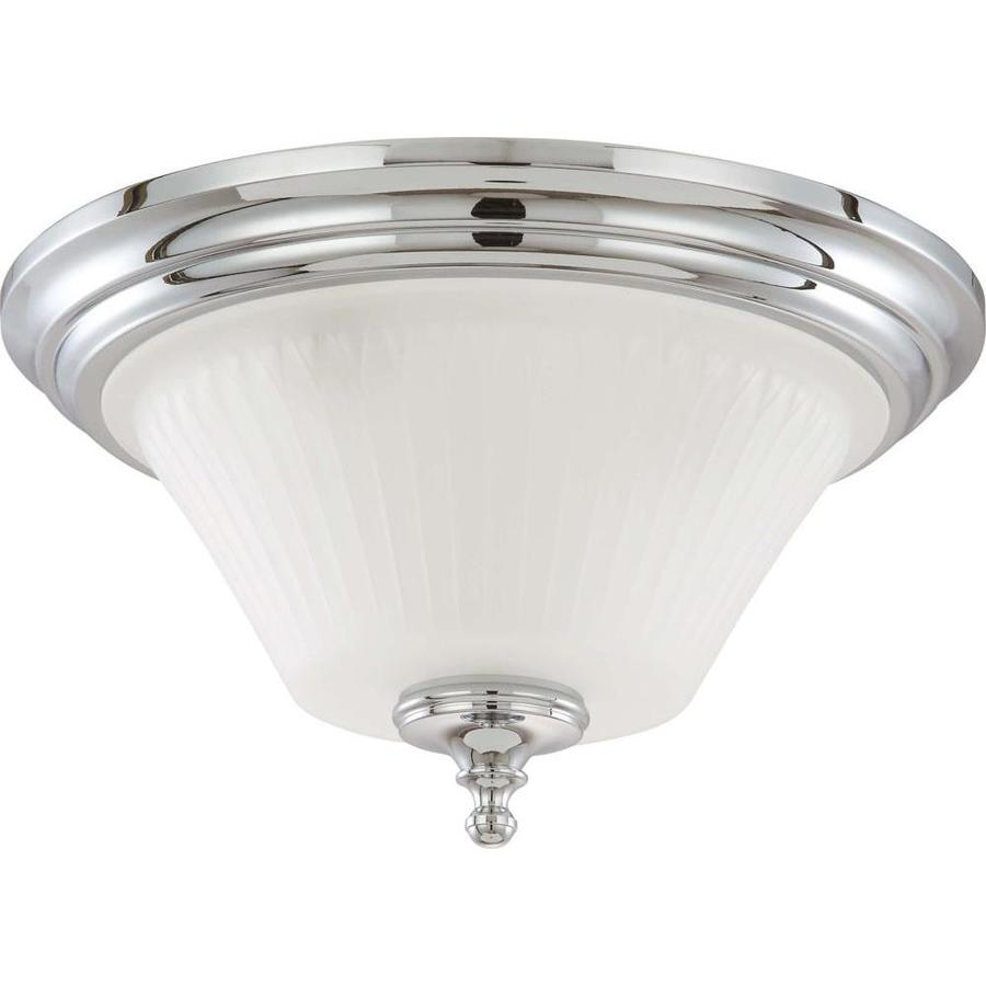 3-in W Polished chrome Flush Mount Light