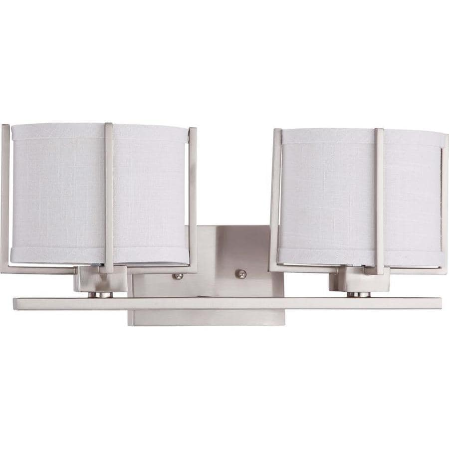 Portia 1-Light 8-in Brushed nickel Vanity Light