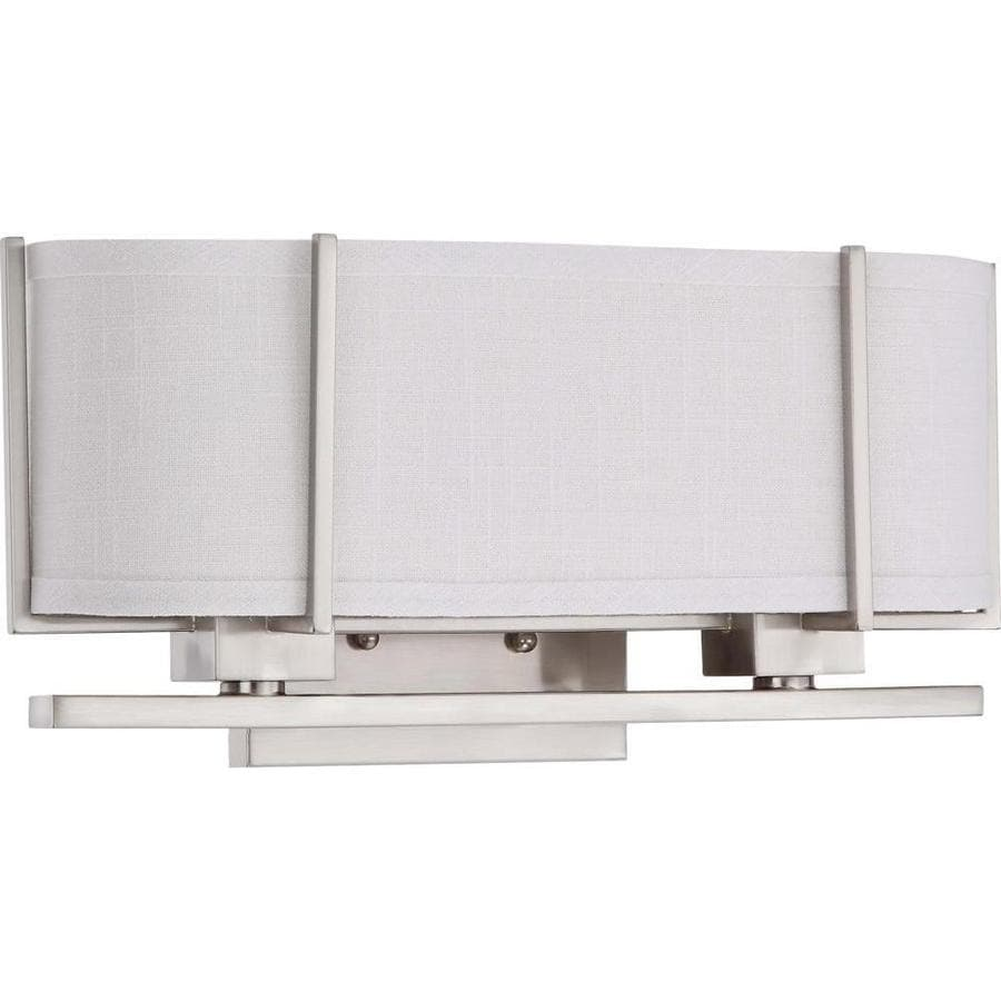 Portia 17.25-in W 1-Light Brushed Nickel Arm Wall Sconce