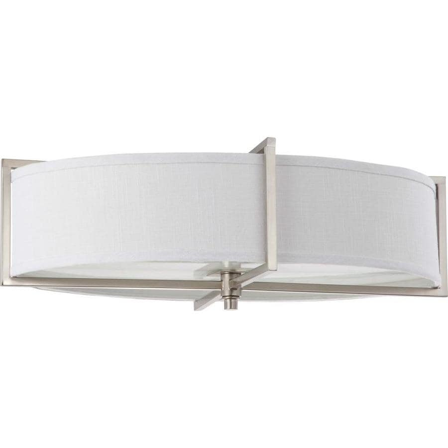 6-in W Brushed Nickel Flush Mount Light