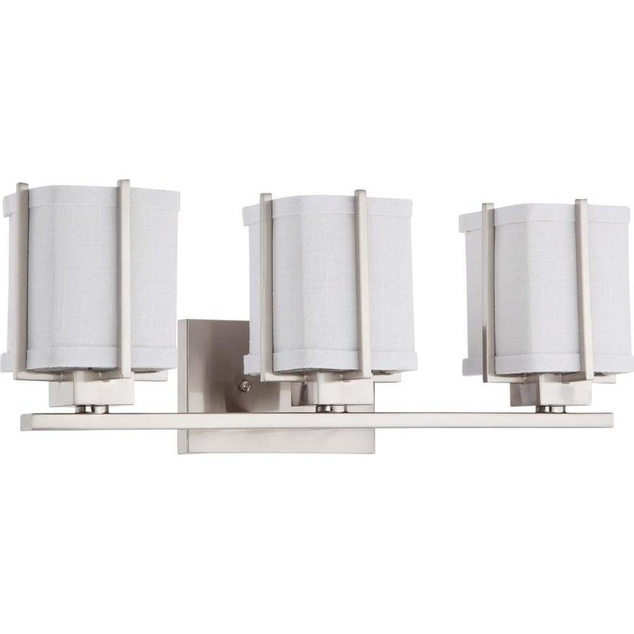 Logan 2-Light 8-in Brushed Nickel Vanity Light
