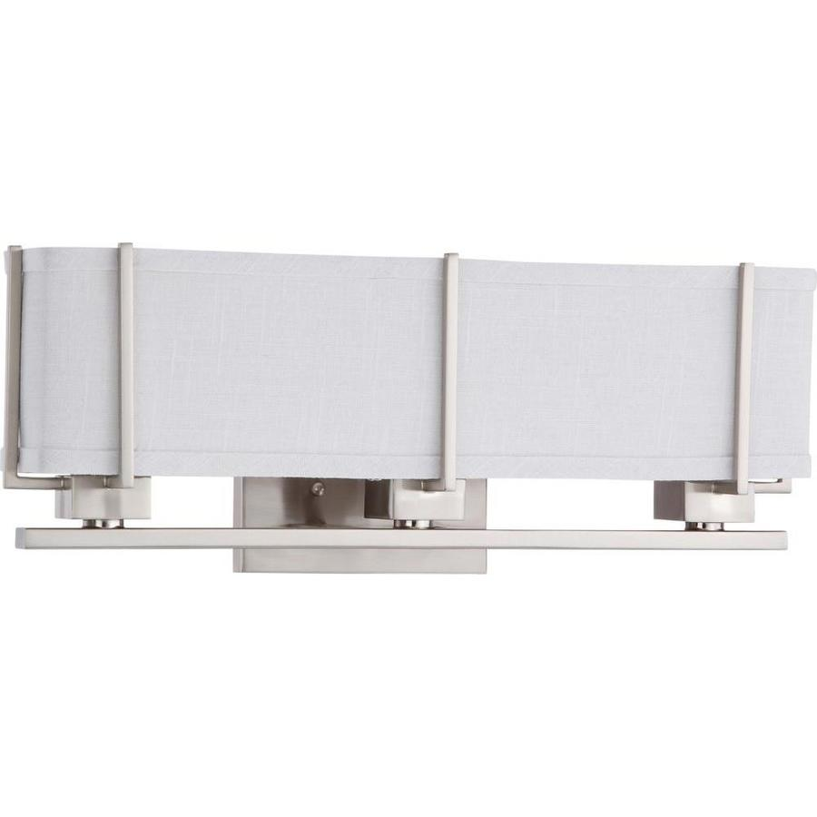 Logan 8.5-in W 1-Light Brushed nickel Arm Wall Sconce