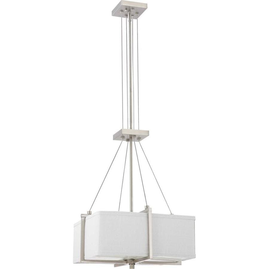 Logan 17.5-in Brushed Nickel Single N/A Pendant