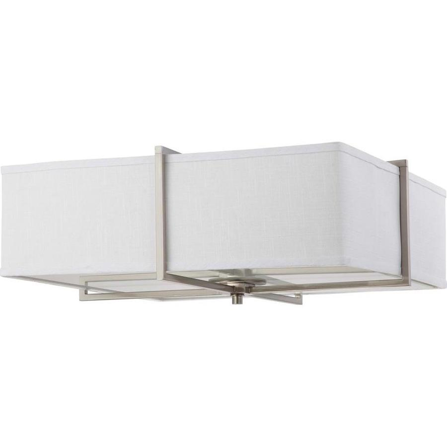 24-in W Brushed Nickel Flush Mount Light