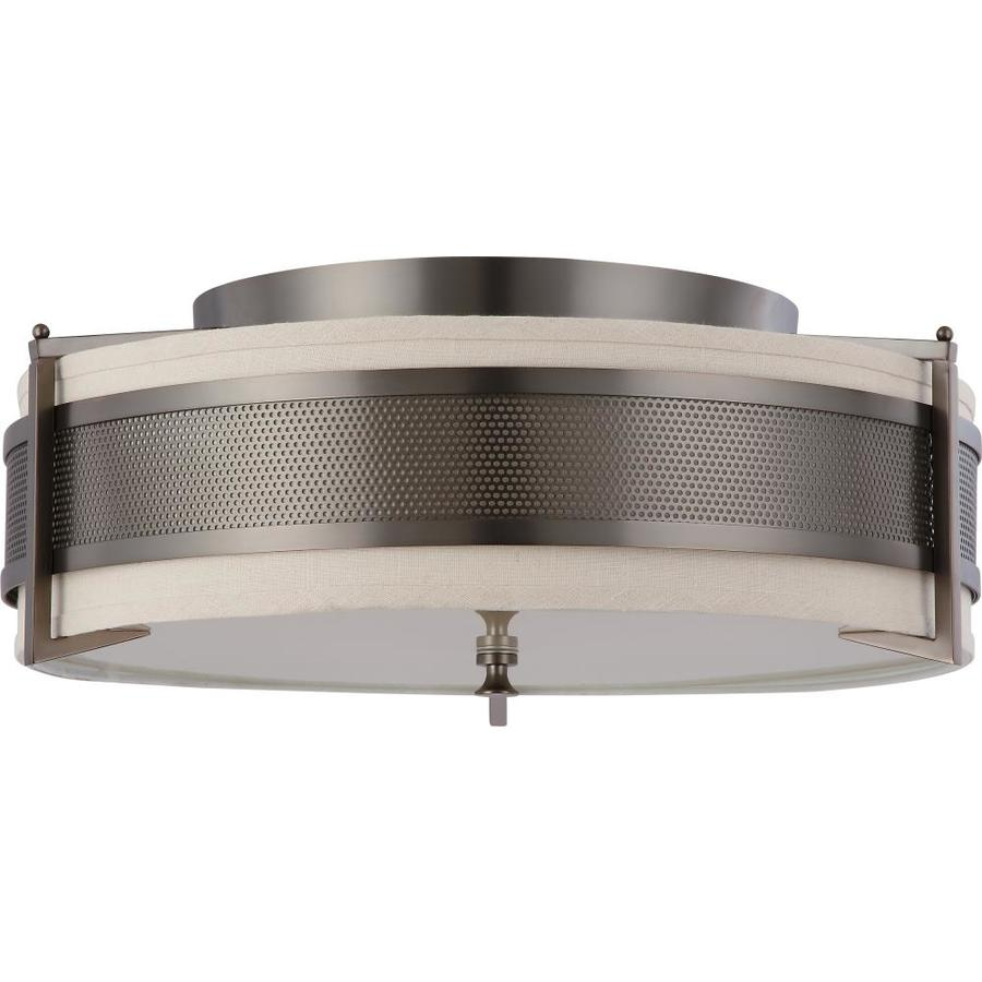 24-in W Hazel Bronze Standard Flush Mount Light