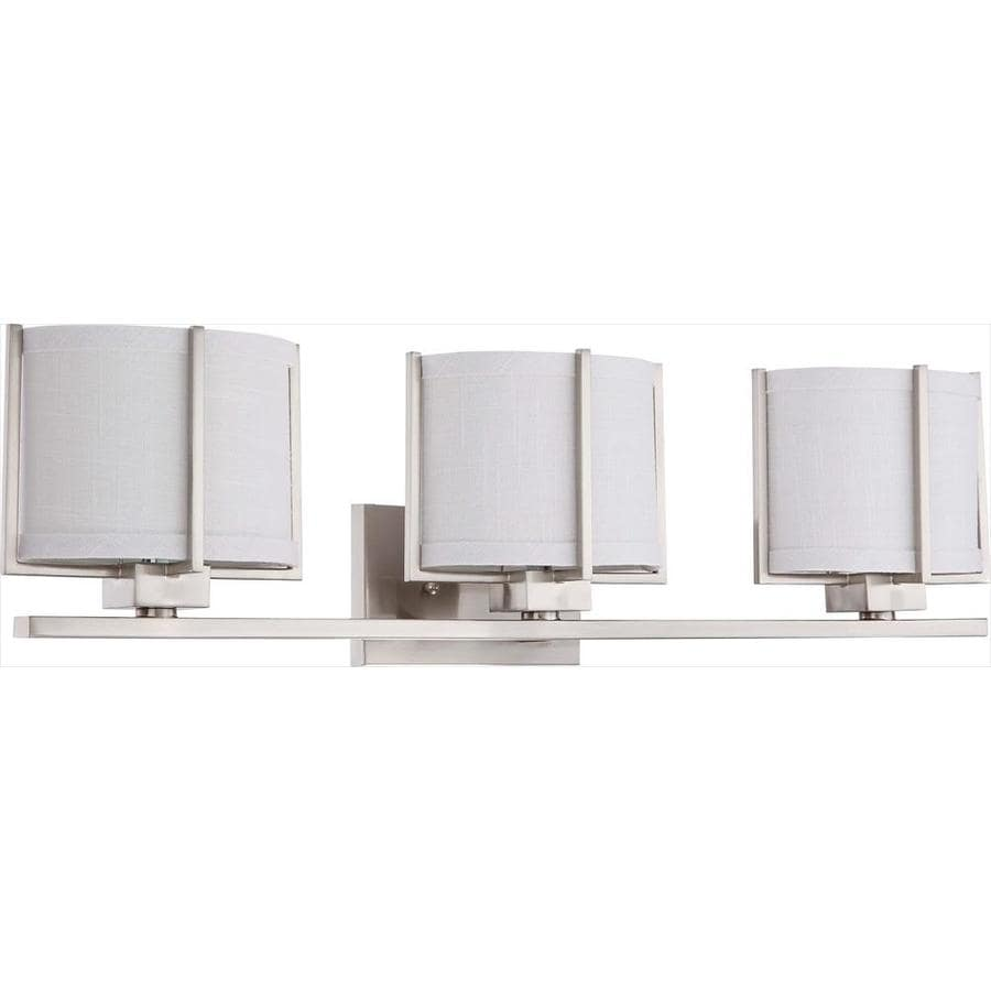 Portia 3-Light 8-in Brushed Nickel Vanity Light