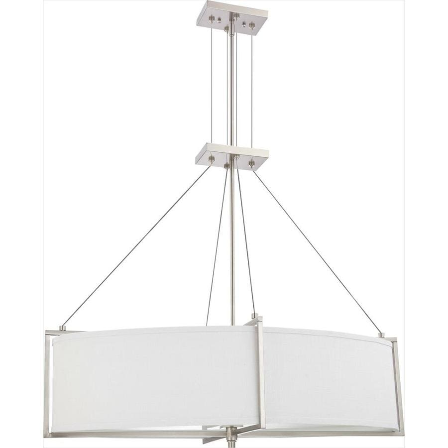 Portia 20.5-in Brushed Nickel Single N/A Pendant
