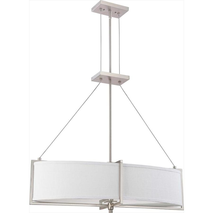 Portia 12-in Brushed Nickel Single N/A Pendant