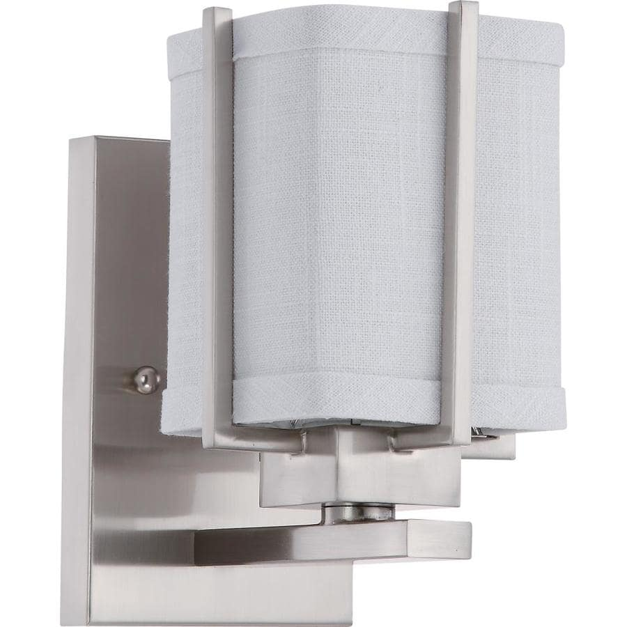 Logan 1-Light 8-in Brushed Nickel Vanity Light