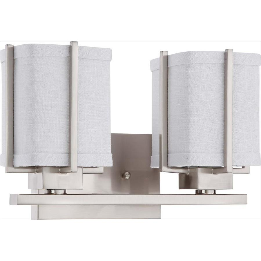 Logan 2-Light Brushed Nickel Vanity Light