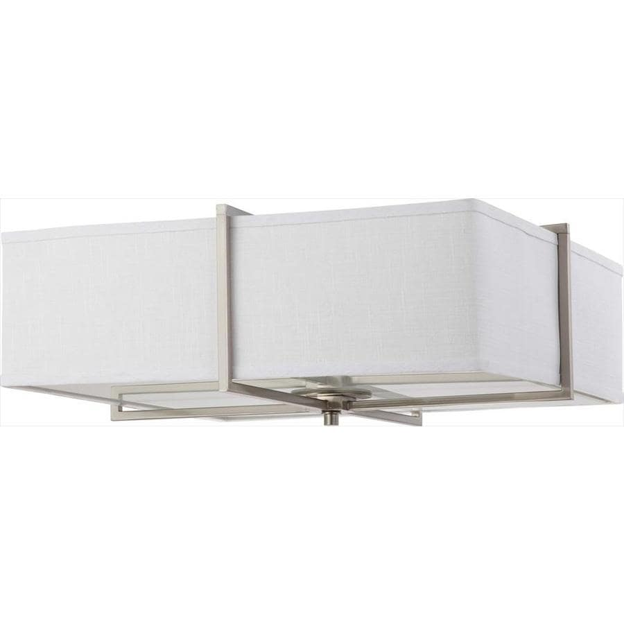 4-in W Brushed Nickel Flush Mount Light