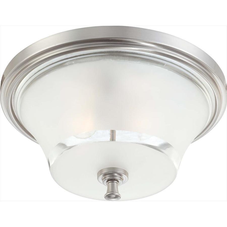 15-in W Brushed Nickel Flush Mount Light