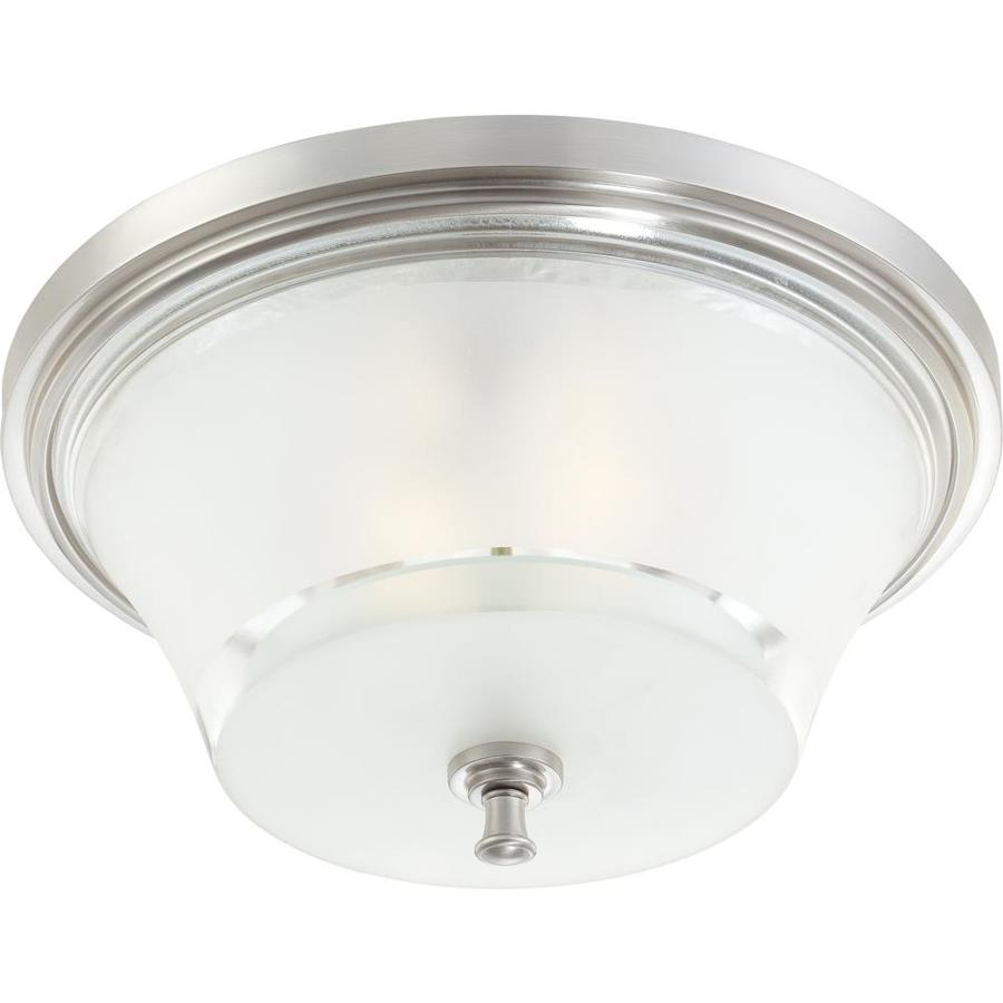 18-in W Brushed Nickel Ceiling Flush Mount Light