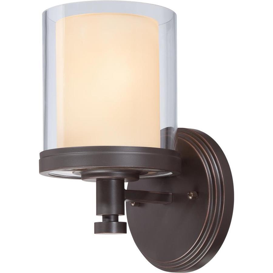 Decker 1-Light 10.25-in Sudbury Bronze Vanity Light