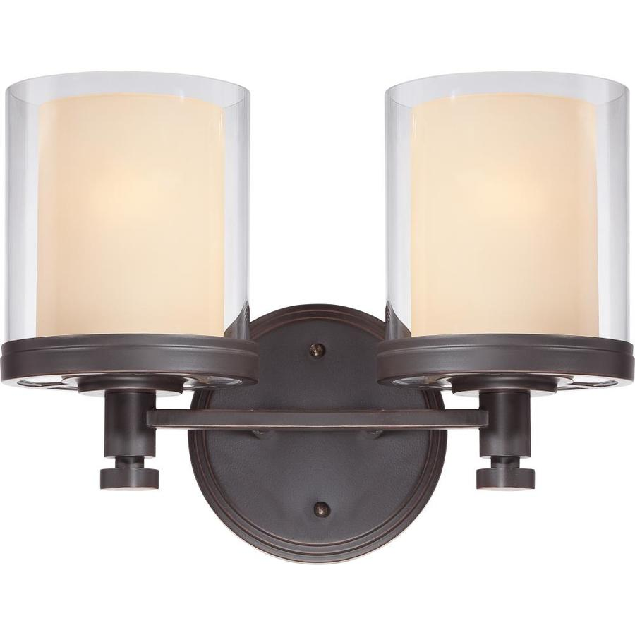 Decker 2-Light 10.25-in Sudbury bronze Vanity Light