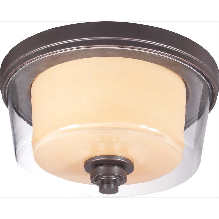 2-in W Sudbury Bronze Flush Mount Light