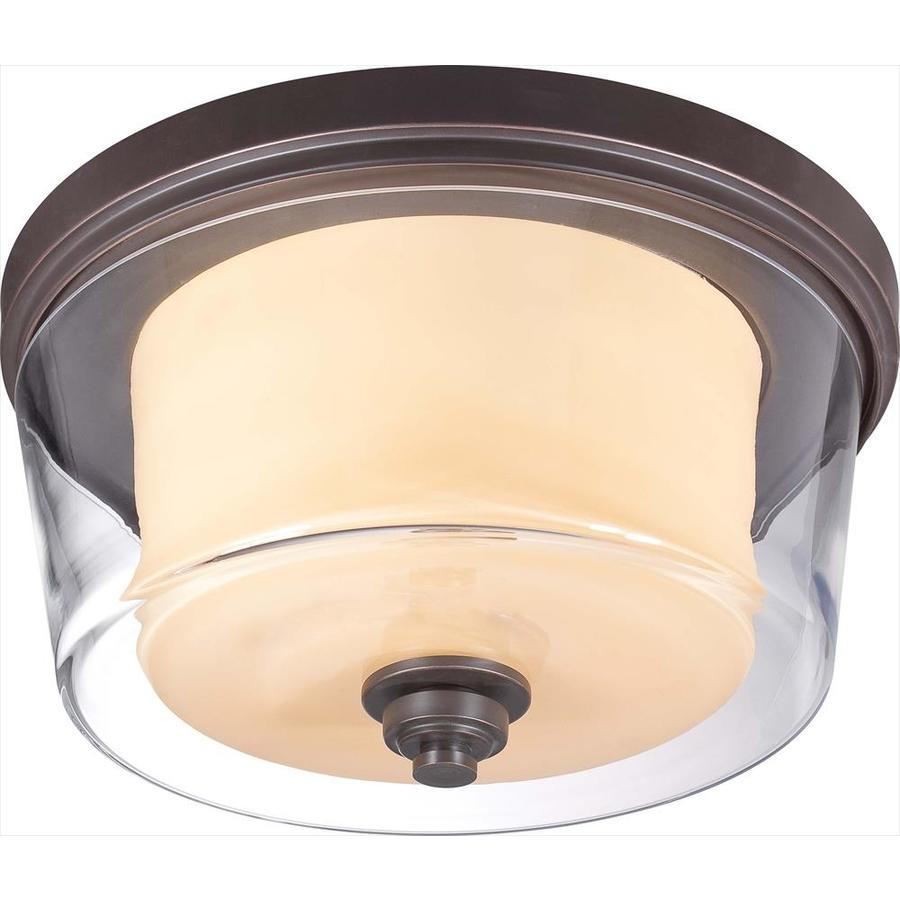 3-in W Sudbury Bronze Flush Mount Light