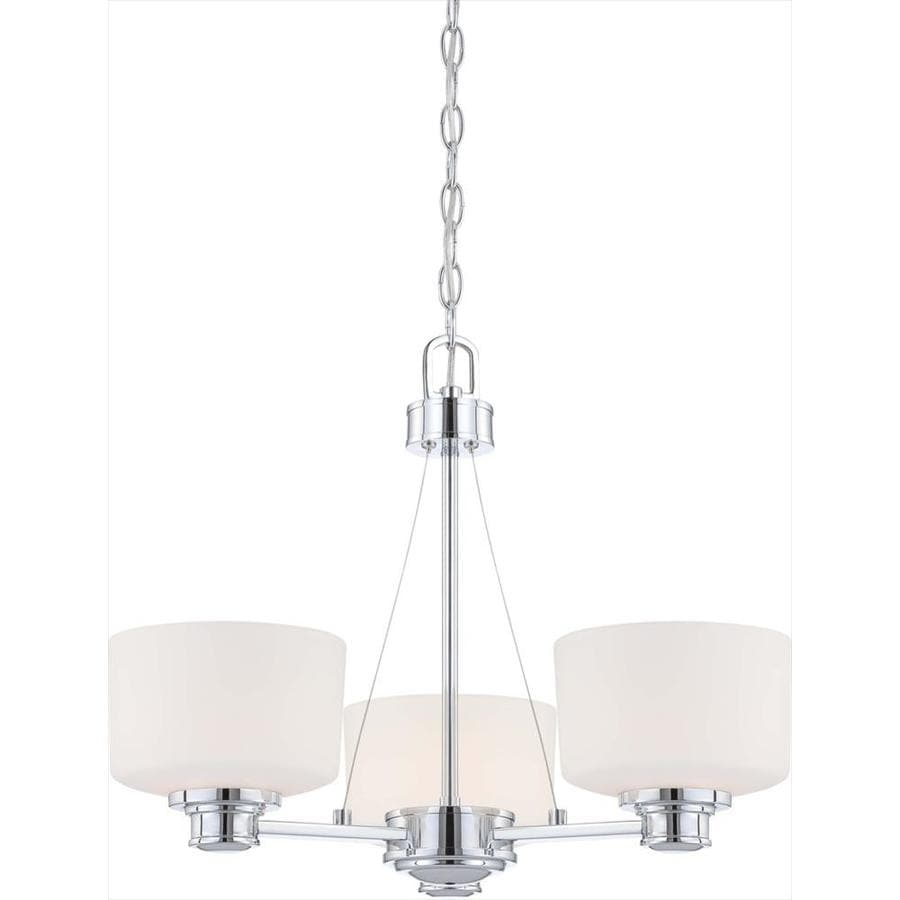 Soho 22-in 3-Light Polished chrome Tinted Glass Candle Chandelier