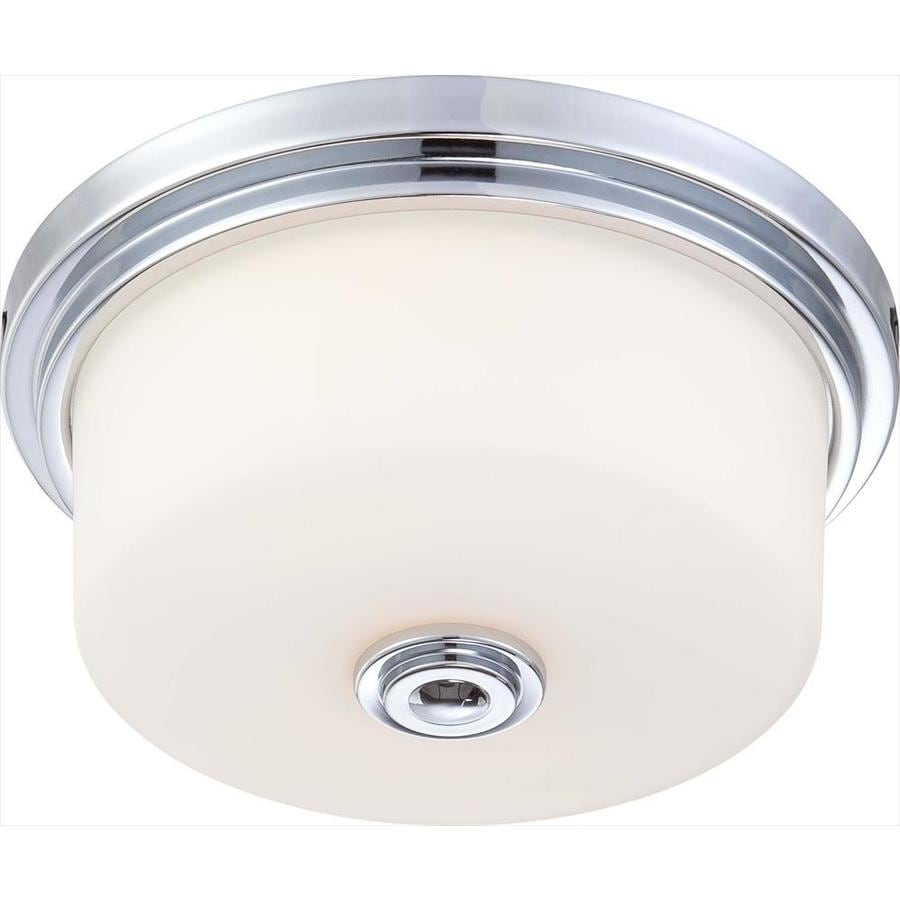13-in W Polished Chrome Ceiling Flush Mount Light