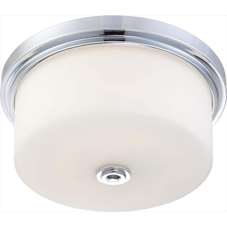 3-in W Polished chrome Flush Mount Light