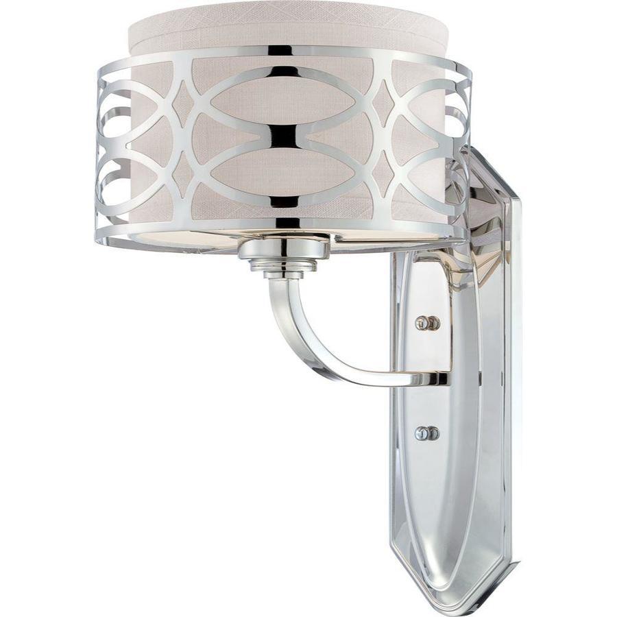 Harlow 1-Light 14.125-in Polished Nickel Vanity Light