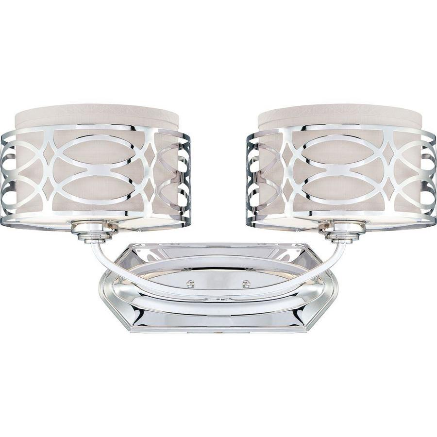 Harlow 2-Light 14.125-in Polished nickel Vanity Light