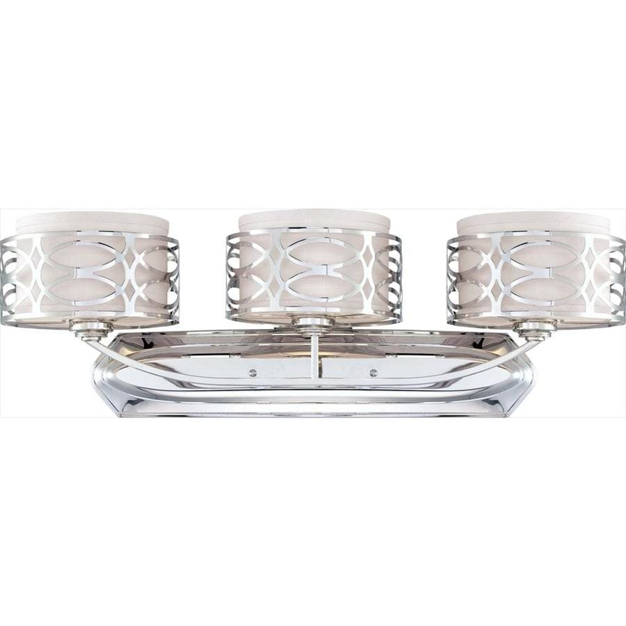 Harlow 3-Light 14.125-in Polished nickel Vanity Light