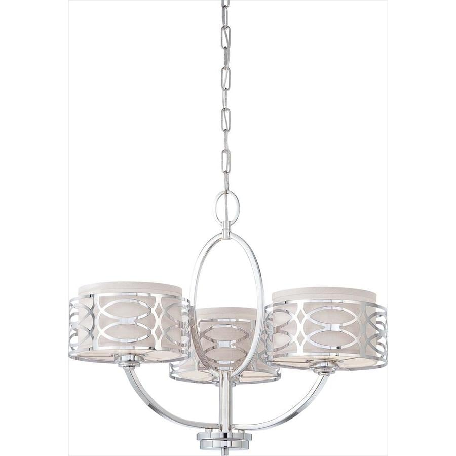 Harlow 25-in 3-Light Polished Nickel Candle Chandelier