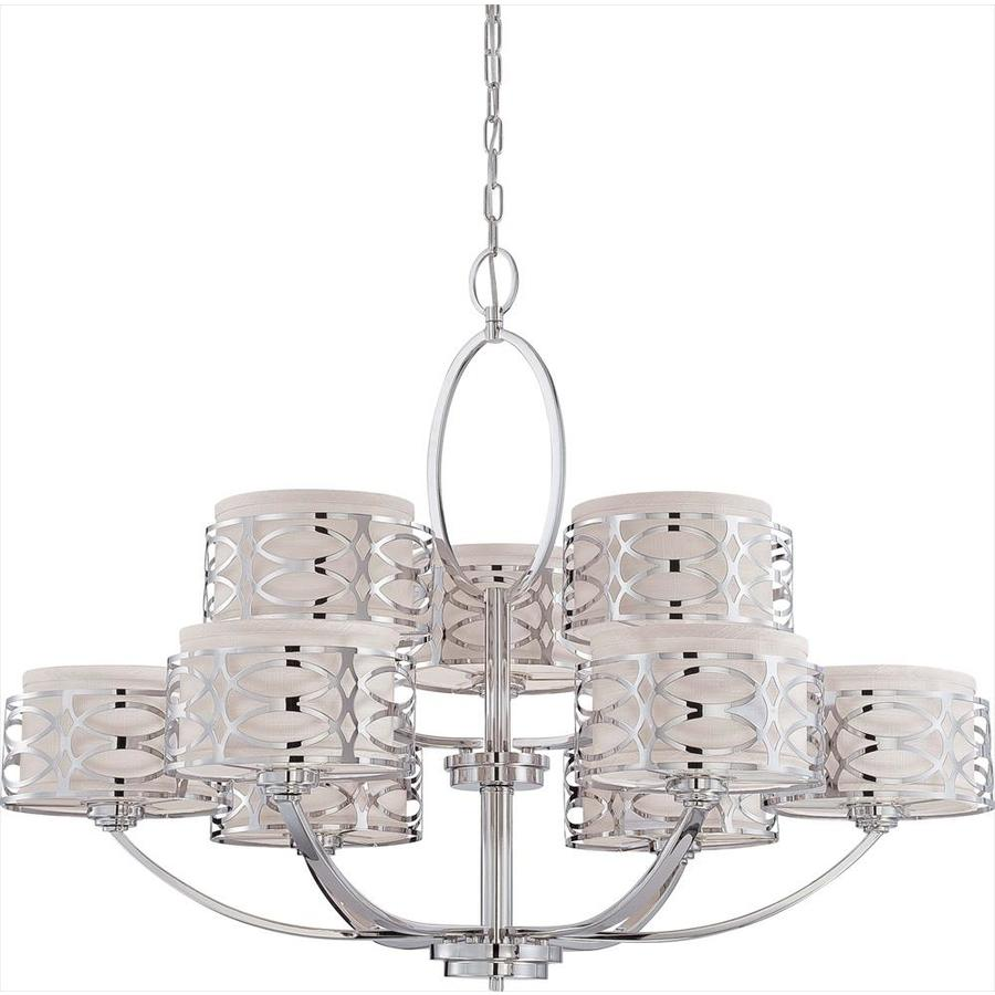 Harlow 38-in 9-Light Polished Nickel Candle Chandelier