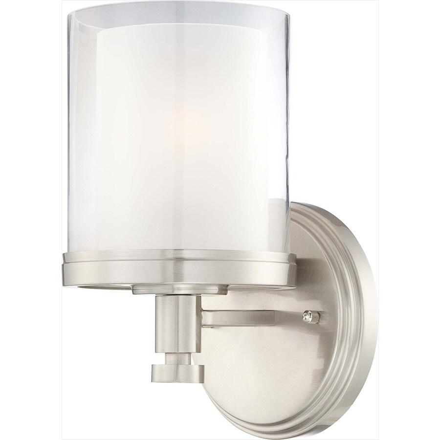 Decker 1-Light 10.25-in Brushed Nickel Vanity Light