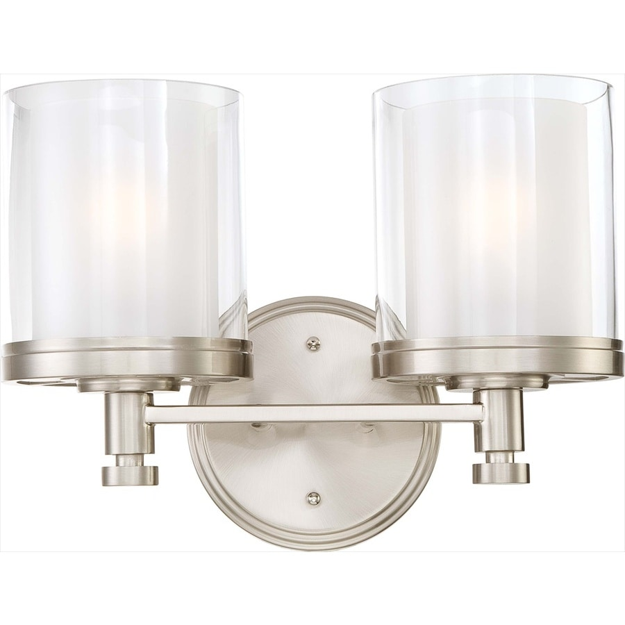Decker 2-Light 10.25-in Brushed Nickel Vanity Light