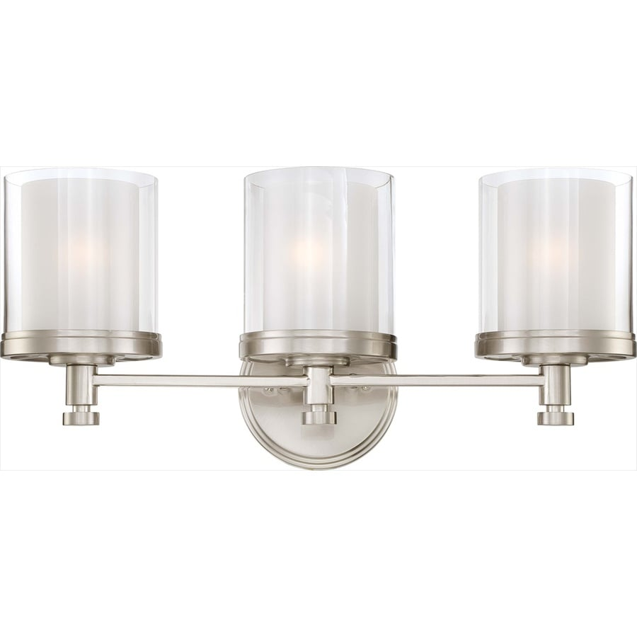Shop Decker 3-Light 10.25-in Brushed Nickel Vanity Light at Lowes.com