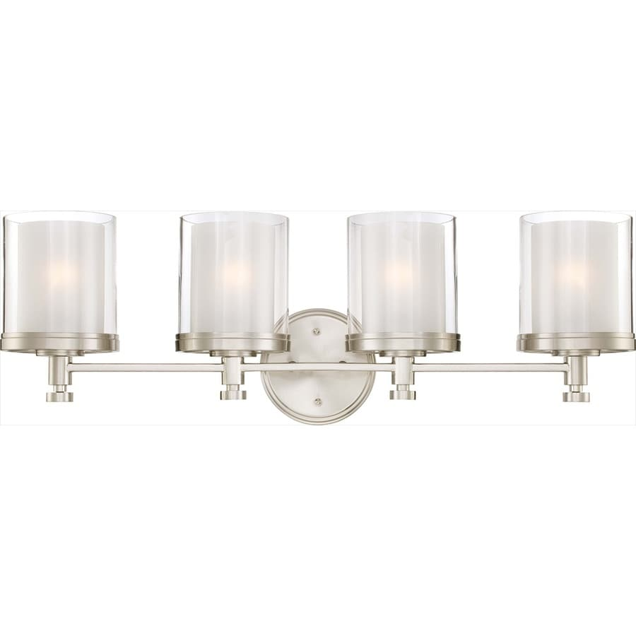 4 light bathroom light shop decker 4 light 10 25 in brushed nickel vanity light 15309