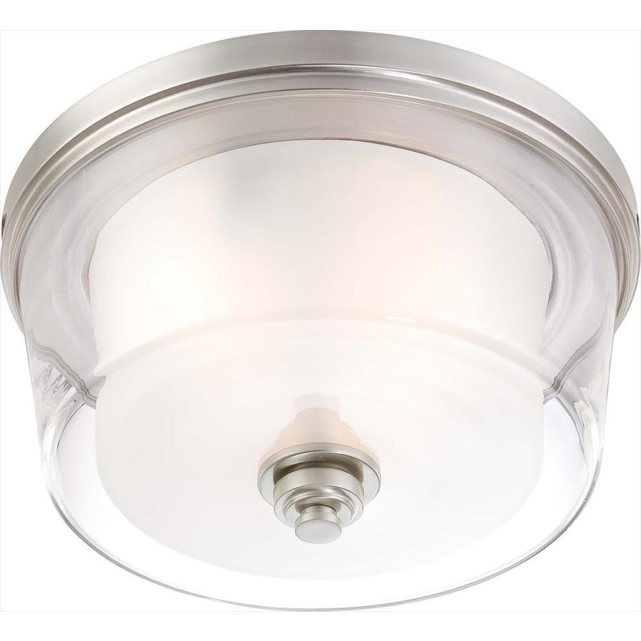 16-in W Brushed Nickel Ceiling Flush Mount Light