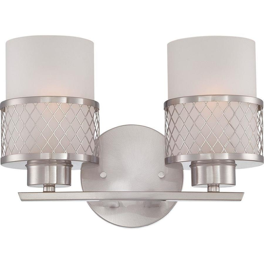 Fusion 2-Light 7.25-in Brushed Nickel Vanity Light