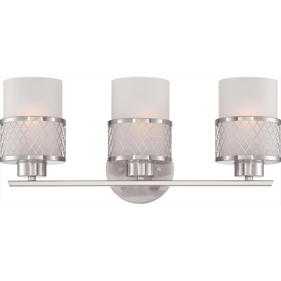 Fusion 3-Light 7.25-in Brushed nickel Vanity Light