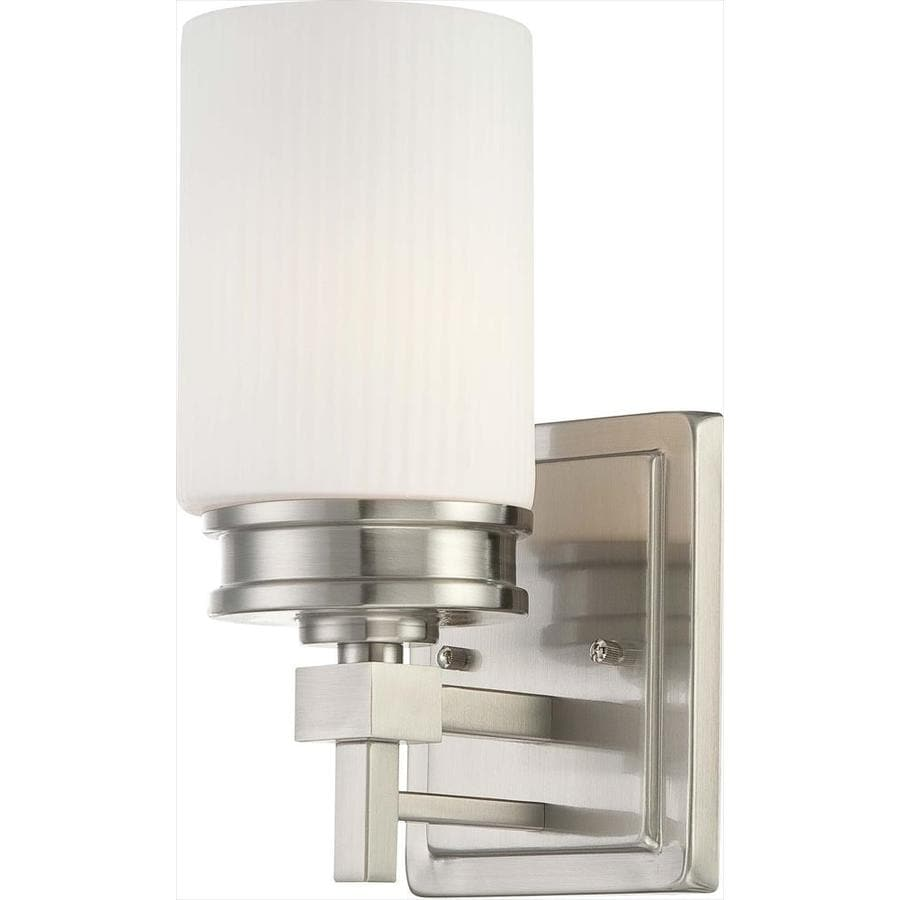 Wright 1-Light 11.5-in Brushed nickel Vanity Light