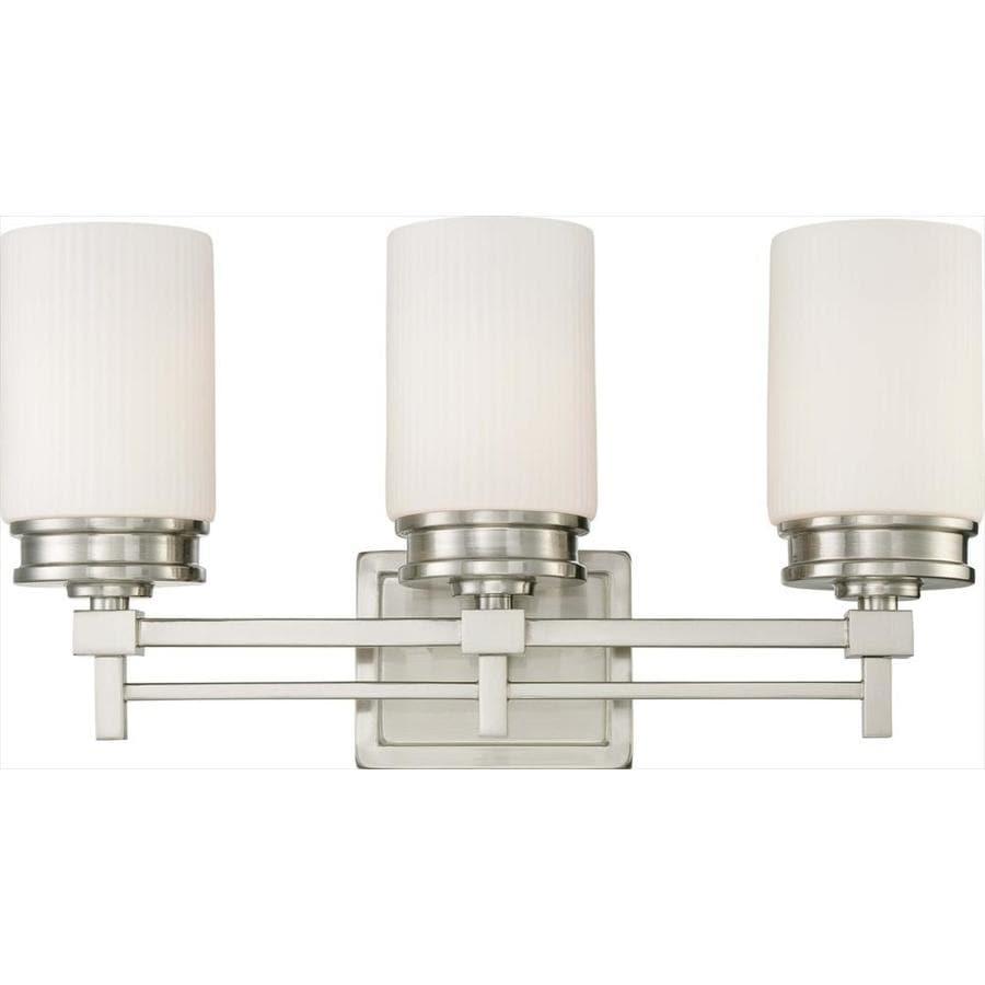 Wright 3-Light 11.5-in Brushed nickel Vanity Light