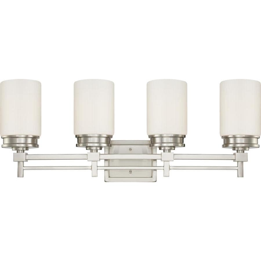 Wright 4-Light 11.5-in Brushed nickel Vanity Light