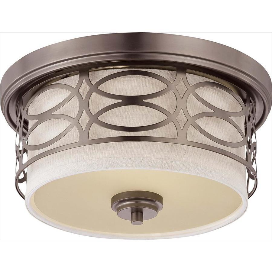 13.37-in W Hazel Bronze Ceiling Flush Mount Light