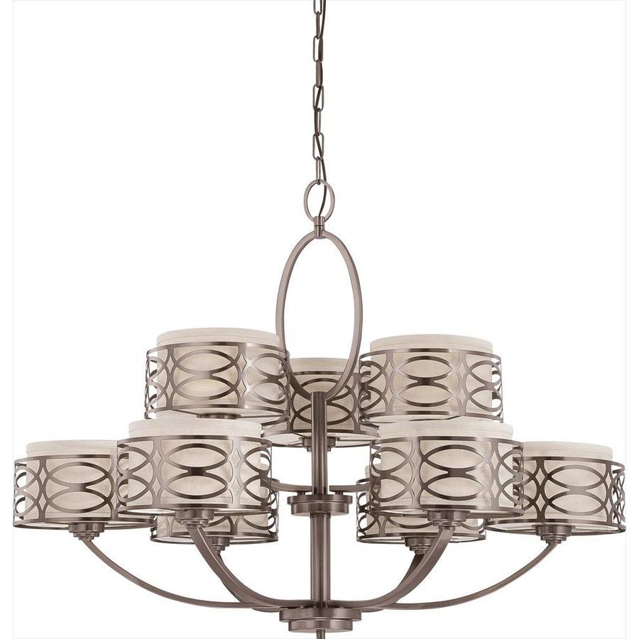 Harlow 38-in 9-Light Hazel bronze Candle Chandelier