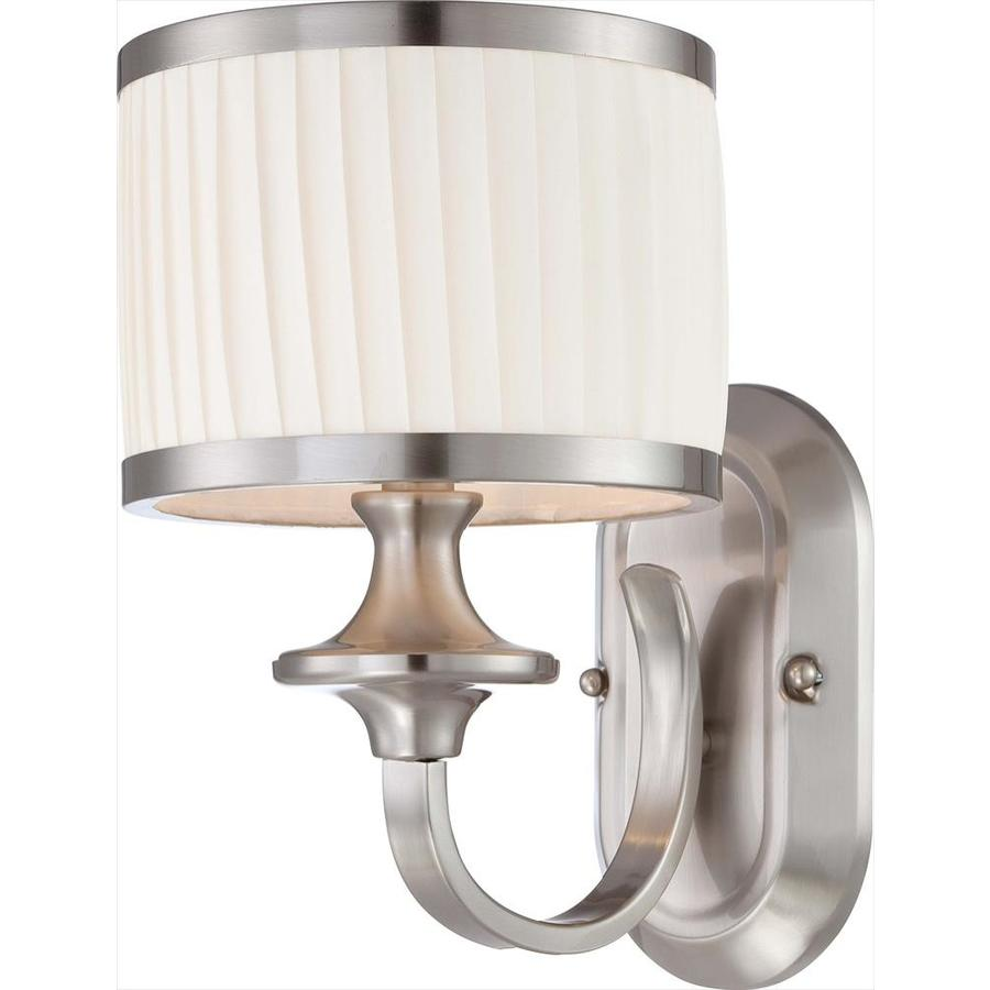 Shop Candice 1 Light 7 In Brushed Nickel Vanity Light At