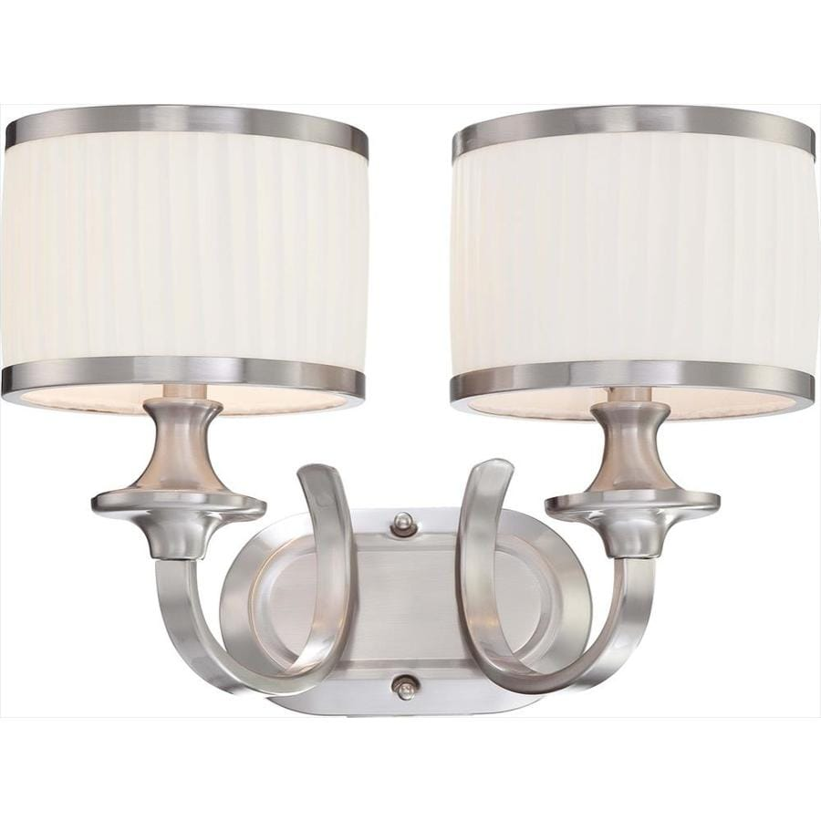 Candice 2-Light 11-in Brushed Nickel Vanity Light