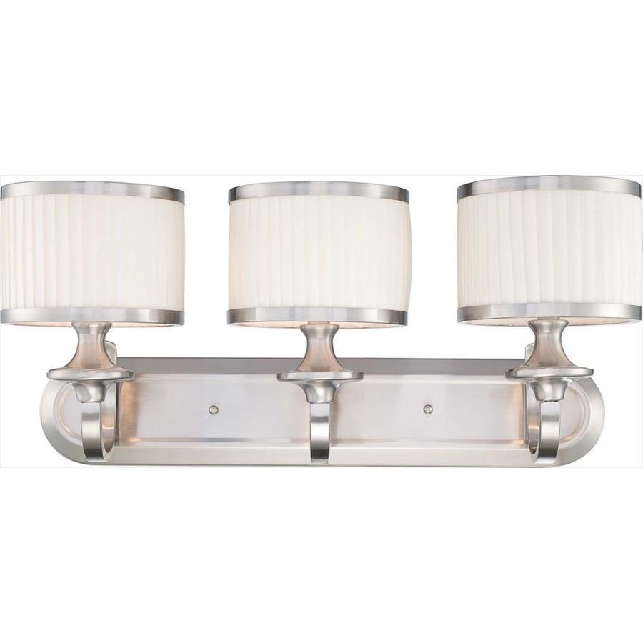 Candice 3-Light 11-in Brushed Nickel Vanity Light