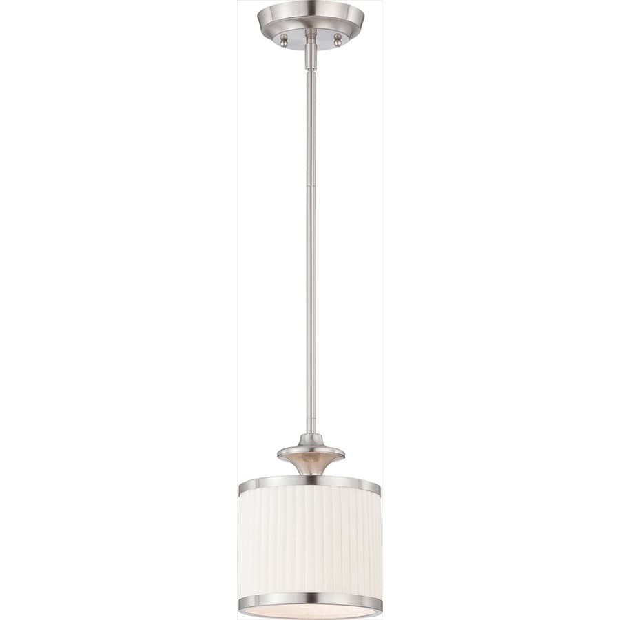 Candice 7-in Brushed Nickel Mini Drum Pendant