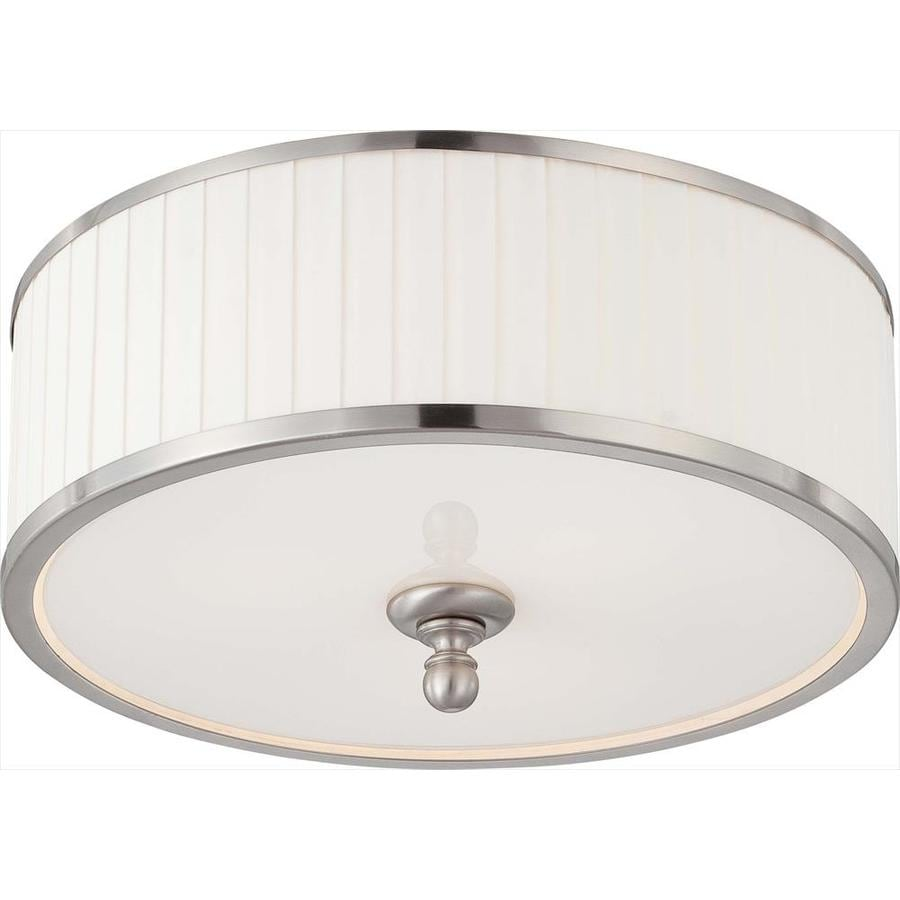 3-in W Brushed Nickel Flush Mount Light
