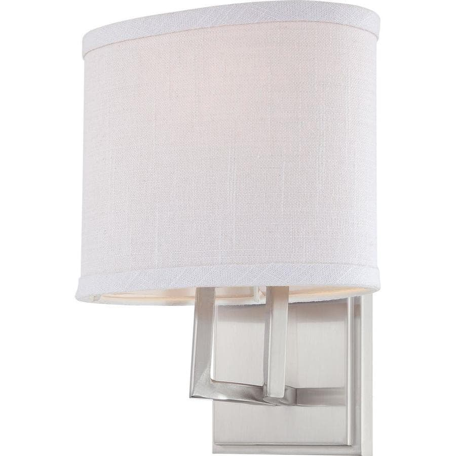 Gemini 1-Light 10.375-in Brushed Nickel Vanity Light