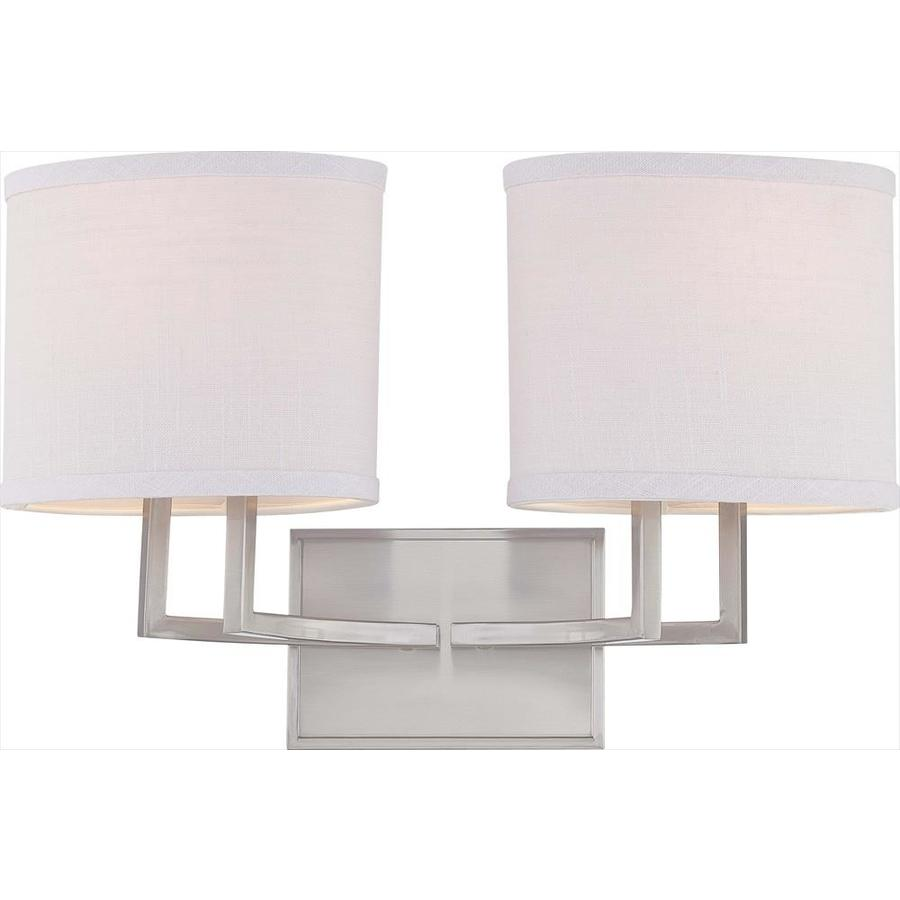 Gemini 2-Light 10.375-in Brushed Nickel Vanity Light