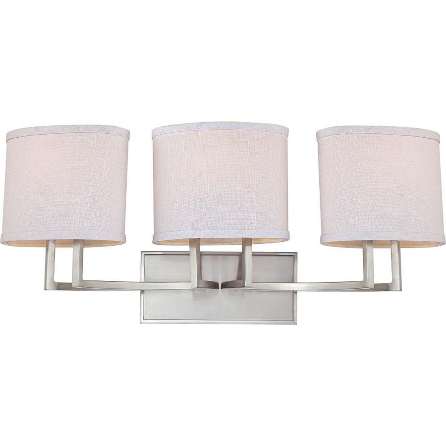 Gemini 3-Light 10.375-in Brushed Nickel Vanity Light